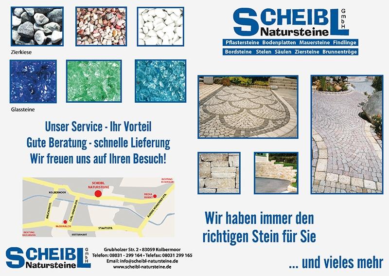 Flyer Scheibl Natursteine