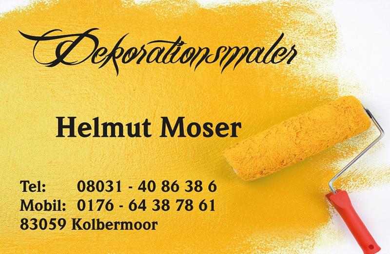Visitenkarte Dekorationsmaler Helmut Moser