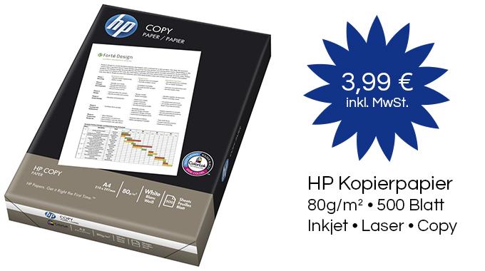 HP Kopierpapier CHP 910 A4 80g weiss 500 Blatt