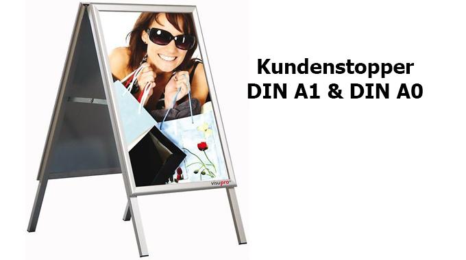 Kundenstopper DIN A1 und DIN A0