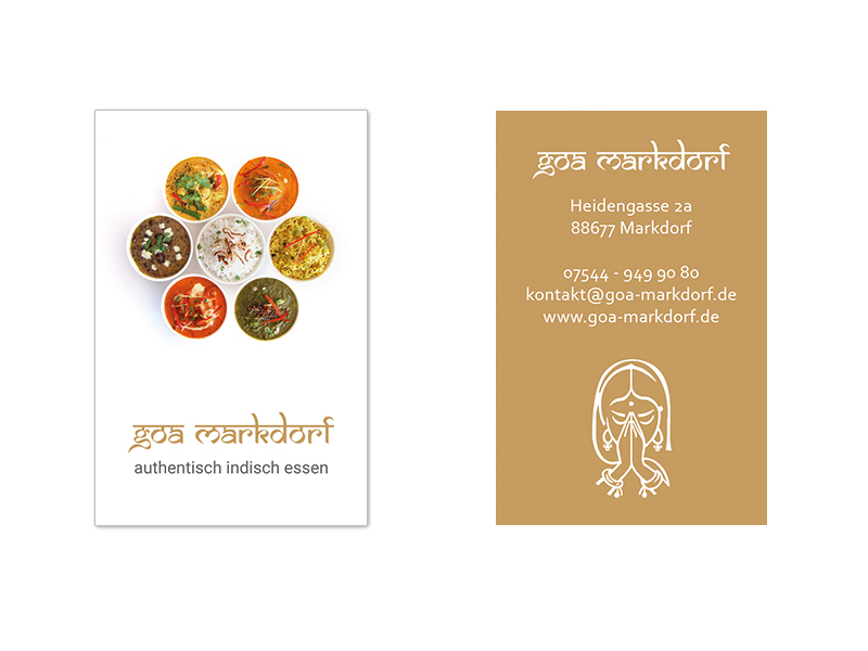 Goa Markdorf Visitenkarten