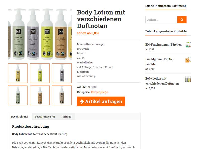 Produktansicht von werbeartikel-vegan.de